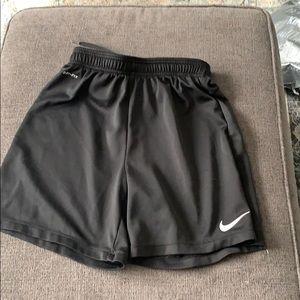 Boys Nike black shorts size L